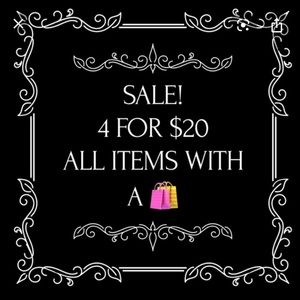 4 for $20 sale
